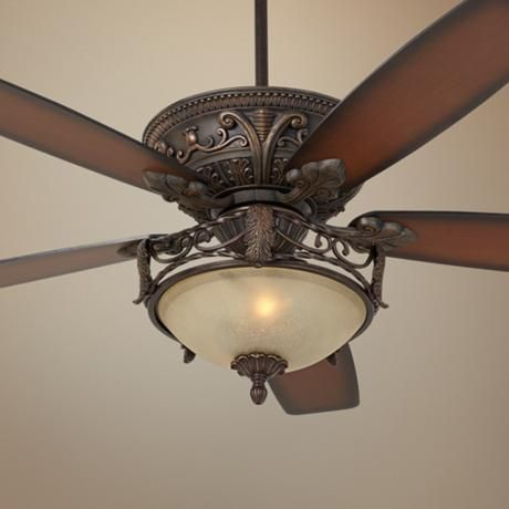 60 casa montego scavo glass light ceiling fan
