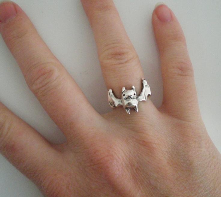 Bat Ring. $106.00, via Etsy.
