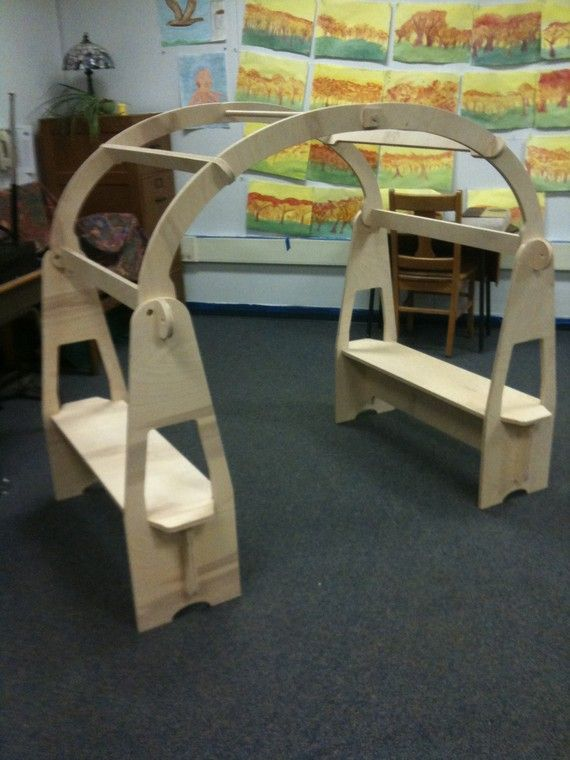 Wooden Play Stand Comes Apart For Easy by WoodenWaldorftoys