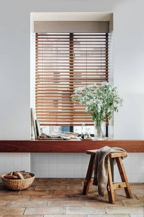14 Decor Ideas To Instantly Upgrade Your Windows: Wood Blinds