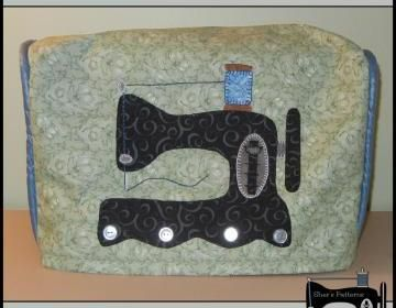PDF Pattern to make this sewing machine cover.This is not only a dust cover, it's also a cute way to cover up your sewing machine when not in use. This patten is more for the intermediate to the advan..