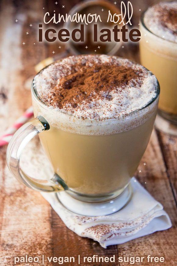 Paleo Cinnamon Roll Iced Latte — Foraged Dish