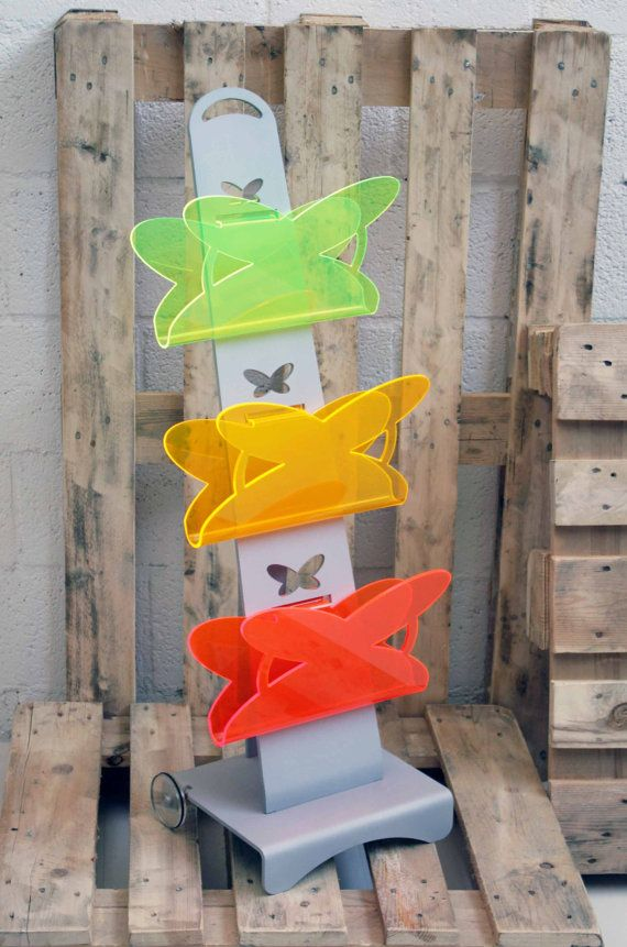 #New Butterfly Magazine rack with alluminium frame, from #Lab145 #Design Factory. Like it? Get one on #Etsy: http://etsy.me/PQdFJg
