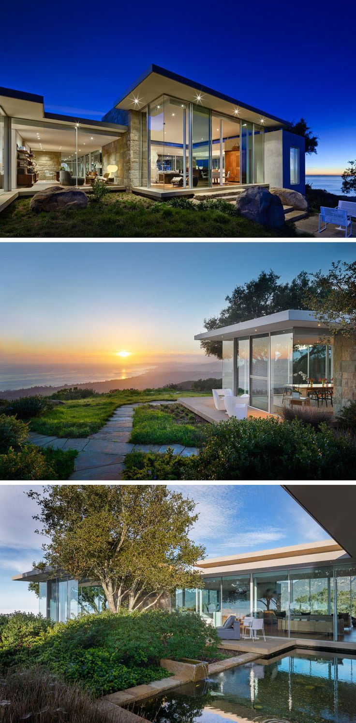 This House In California Is Surrounded By Glass Walls To Take Advantage Of  The Amazing Views