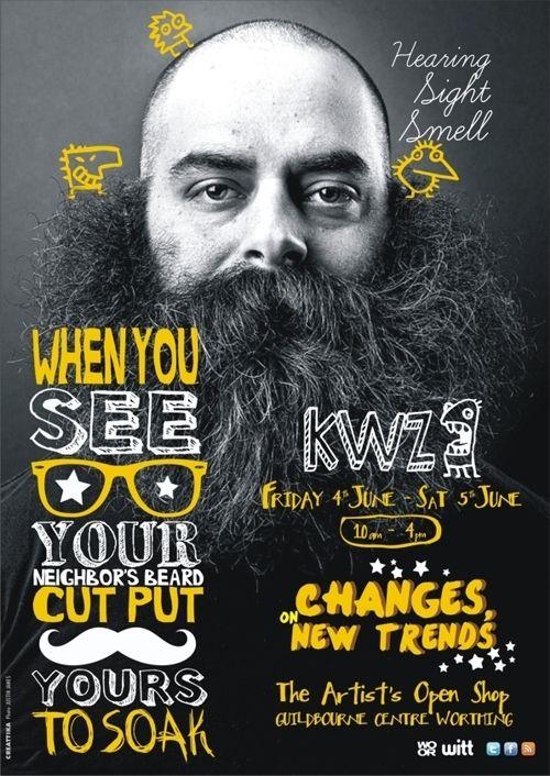 KWZ by K o k e - R o m e r o, via Behance handwritten type over photo