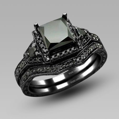 Vancaro White Cubic Zirconia Sterling Silver Wedding Rings Set