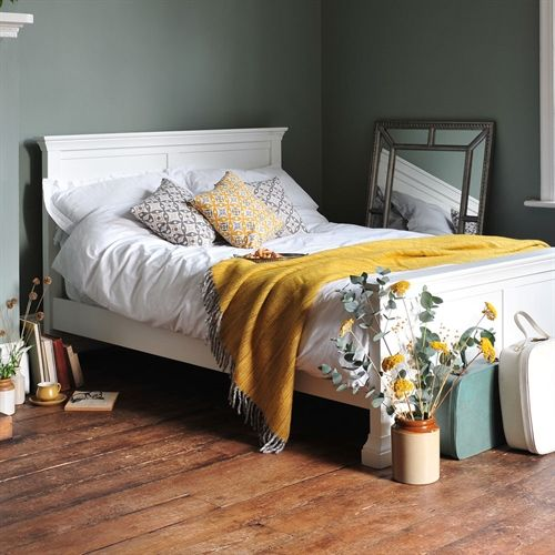 Venice White 4ft 6 Double Bed including free delivery (1041.012) | Pine Solutions