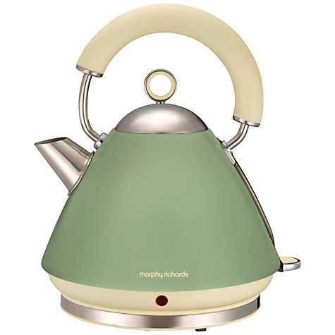 Buy Morphy Richards 102001 Accents Kettle, Sage Green Online at johnlewis.com UK Apartment ...