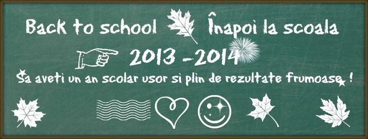 Un an scolar usor si cu rezultate frumoase !