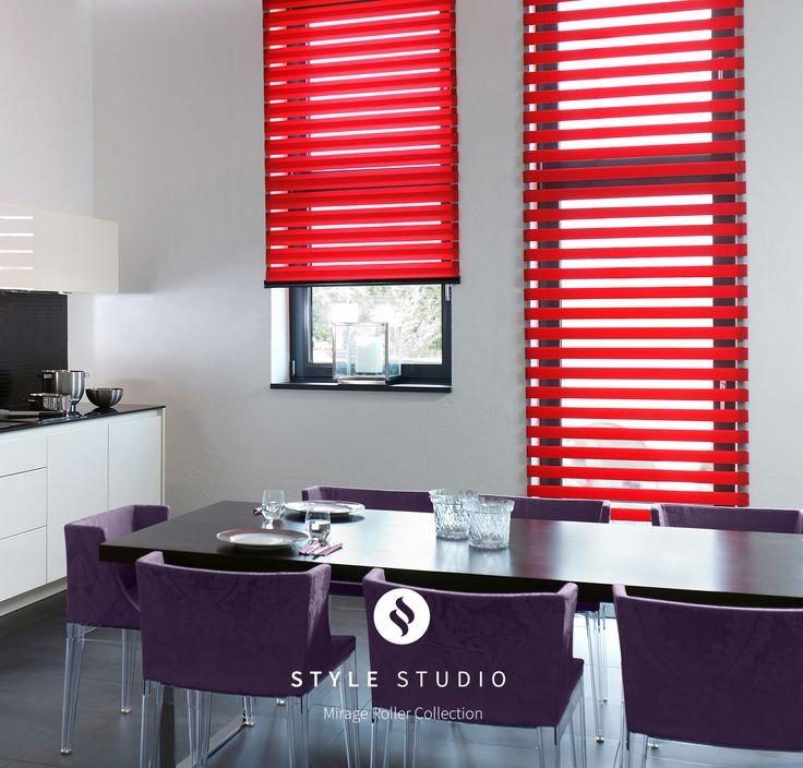 Allure Scarlet Style Studio Mirage Roller Blind