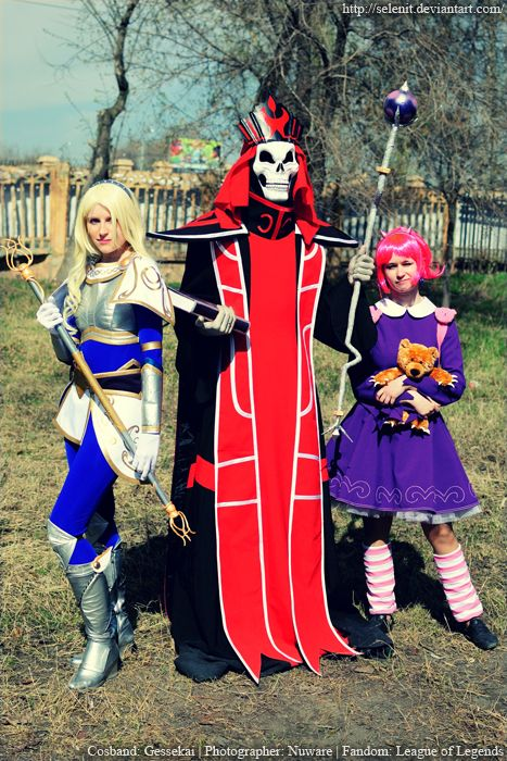 Lux, Karthus and Annie from League of Legends.
