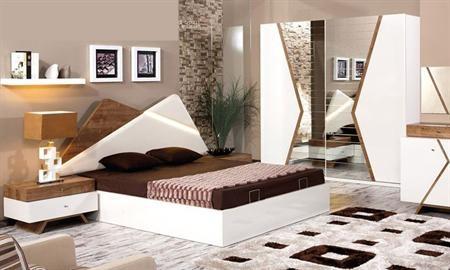 -Valente yatak odası takımı içerisindeki parçalar: dolap, karyola, şifonyer ve 2 adet komodindir. -Takım E1 standartlarına uygun olan suntalemden oluşmaktadır. -Takım başlığı deri döşemedir.