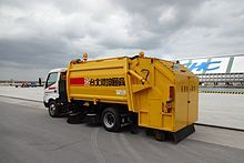 Street Sweeper (Sanitation - Brush) Modern street sweepers are equipped with water tanks and sprayers to loosen particles and reduce dust, which is then vacuumed. This enables them to capture tiny particles, in addition to the larger debris cleaned using mechanical brooms.