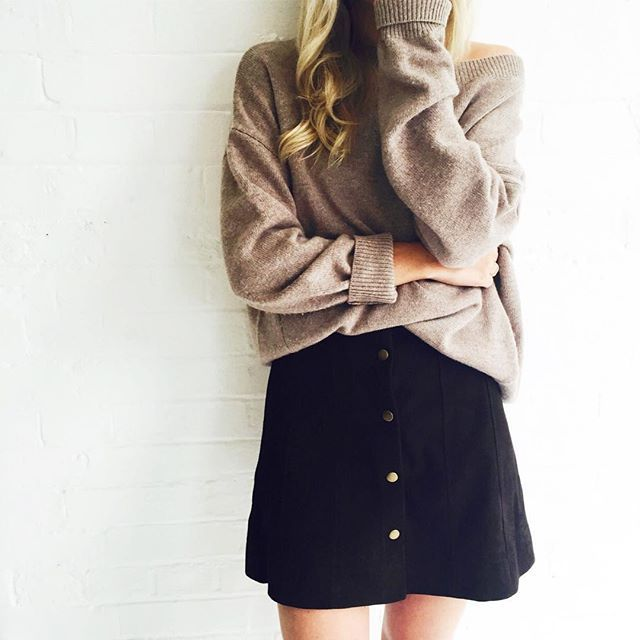 Fall Essentials: The Button Front Skirt: Frame Denim