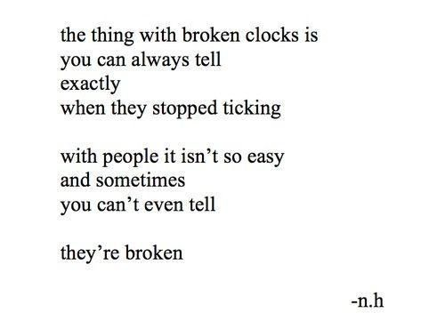 broken clocks.