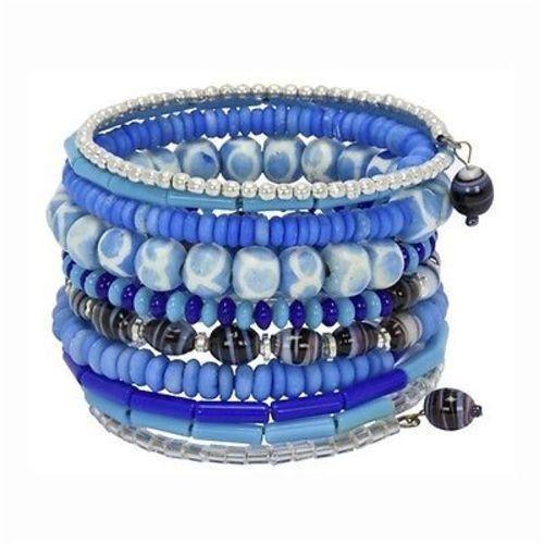 Ten Turn Bead and Bone Bracelet
