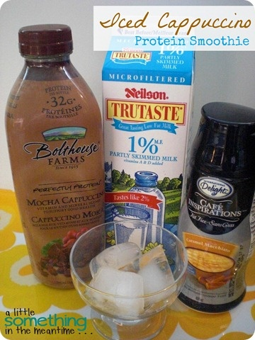 Iced Cappuccino Smoothie Recipe using Bolthouse Farms drink.