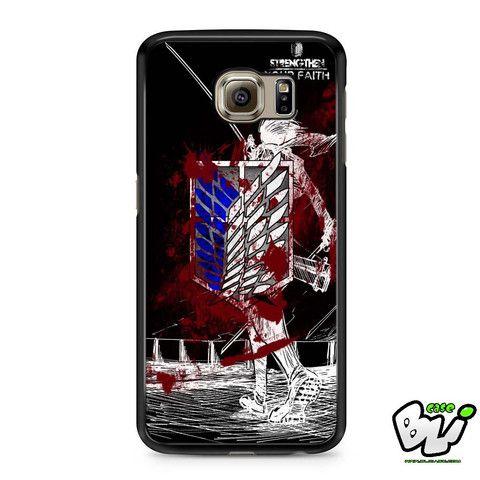 Black White Blood Attack On Titan Samsung Galaxy S6 Case