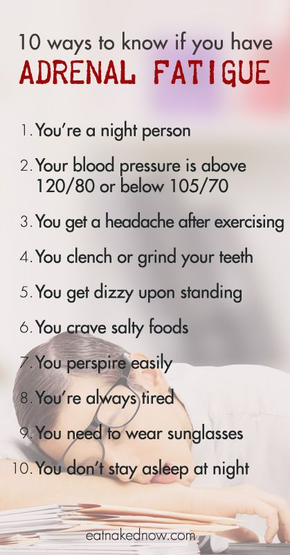 Exhausted? 10 ways to know if you have adrenal fatigue and what to do about it   eatnakednow.com