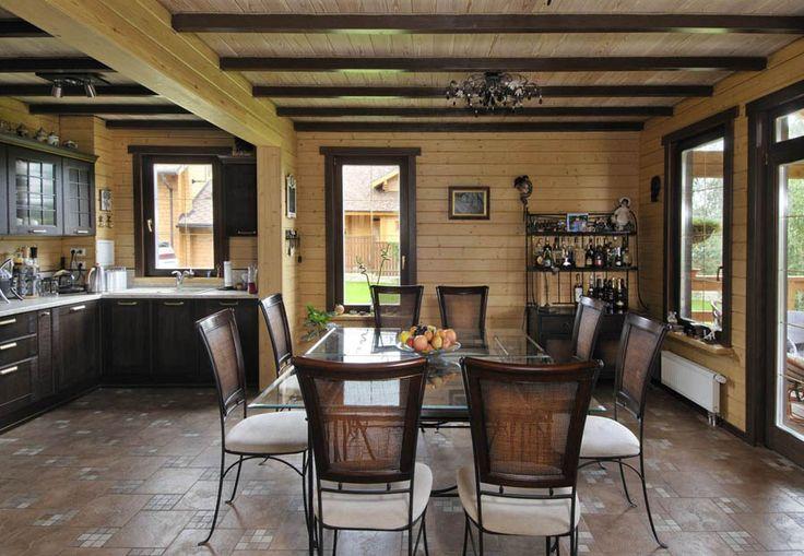 фото интерьеров деревянных домов -04