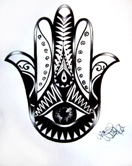 Hamsa Tattoo Design by Ninaschee on deviantART