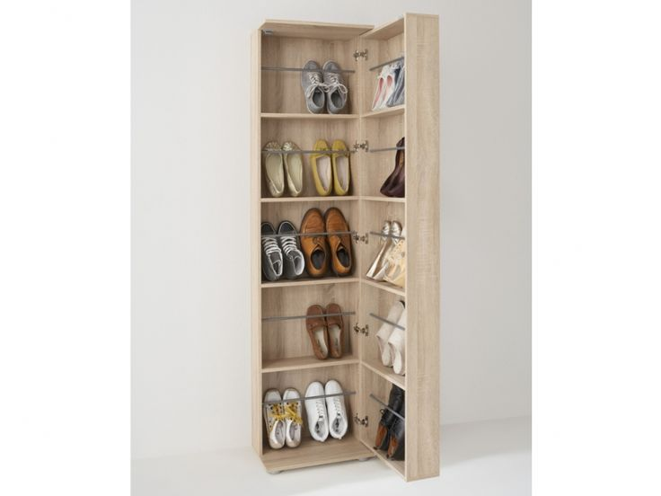 Meuble chaussures walker 1 porte 1 miroir ch ne for Meuble sweet home