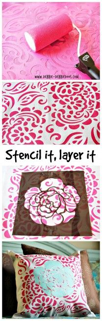 How to stencil a layered look. #tulipforyourhome. #ilovetocreate