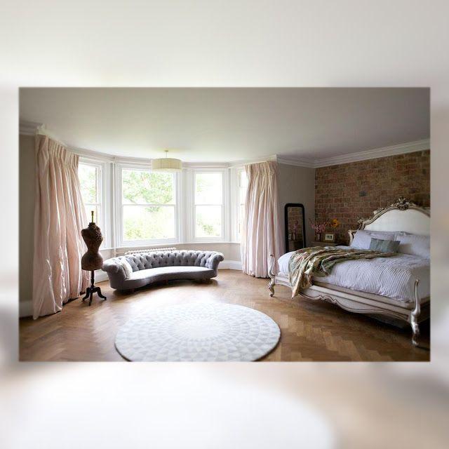 Una antigua casa eduardiana reformada. Dormitorio. Bedroom.