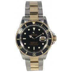 Pre-Owned Rolex Mens Bi-Metal Submariner Date 16613