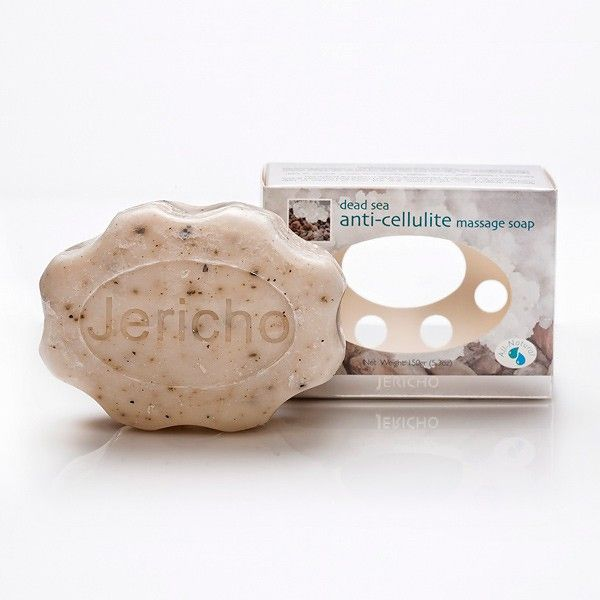 Specially designed soap with a better grip and rows of nodules to help combat cellulite. Contains Dead Sea minerals and Dried Red Seaweed grains, known for their deep penetrating and fat emulsifying properties.Indications•  Natural Soap Rich in Minerals from the Dead Sea. •  Great for Reducing and Eliminating Cellulite.Directions Apply daily to face and/or body and rinse with warm water. Avoid contact with eyes. Product Features IngredientsCoconut oil, Palm Oil, Aloe Vera (Aloe barbadensis…