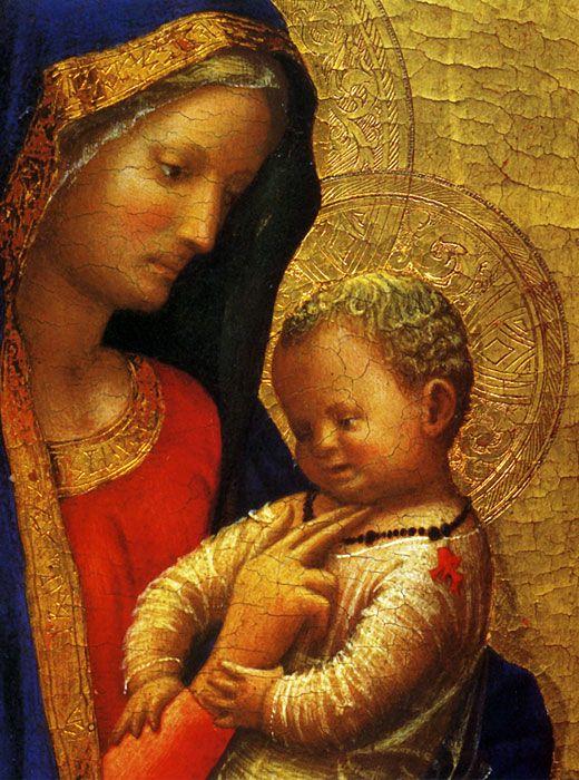 Masaccio, Madonna del solletico (the 'Casini Madonna'), c. 1426.  Galleria degli Uffizi, Florence, Italy.