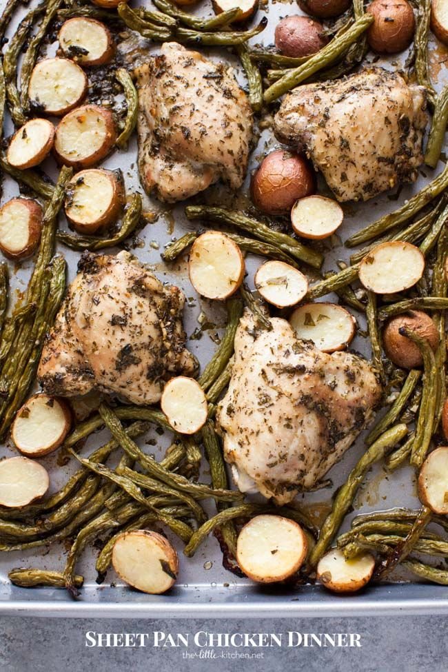 Sheet Pan Chicken Dinner from thelittlekitchen.net @thelittlekitchn