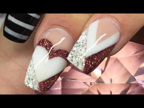 ♡ Tammy Taylor Sculptured Acrylic Nails with Rustic Christmas Collection Demos - YouTube