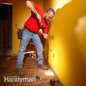 Run electrical cable through walls quickly and efficiently.