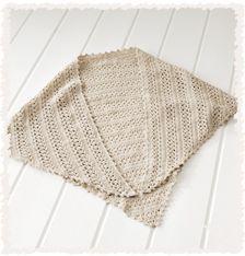 かぎ針編みの 三角ショール   手づくりレシピ   クロバー株式会社