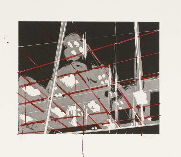 Spots 1 (2011). Aquatint and Hand-Painting