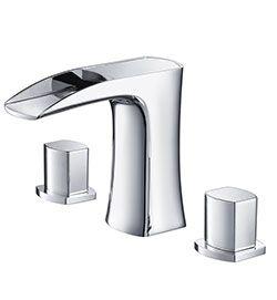 Fresca Fortore (FFT3076CH) Widespread Mount Bathroom Vanity Faucet - Chrome #BlondyBathHome #BathroomRemodel #Faucet #BathroomFaucet