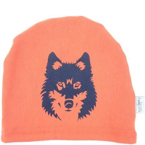 wolf on orange: owl on heather blue Our fleece-lined bamboo jersey, graphic print hat is a family favorite amongst the House of Koopslie community.  It is the perfect accessory for everyday wear, underneath a sports helmet or for family photos.  Our graphic hats are made out of our favourite fleece-lined bamboo blend – 66% bamboo, 28% cotton, 6% spandex and 100% awesome.