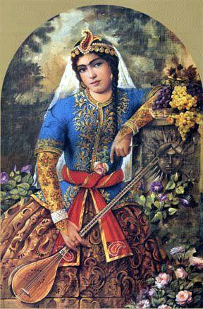 Persian Musician Maiden  Shakiba Gallery