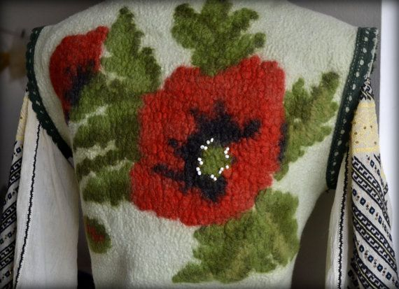 Felted vest wool vest nuno felted vest vest for women by Gariana