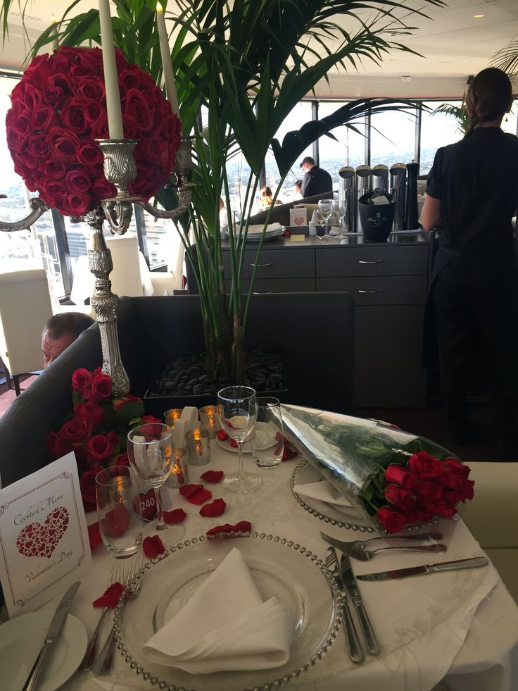Romantic setting at the  C Restaurant  by Romantic Gestures