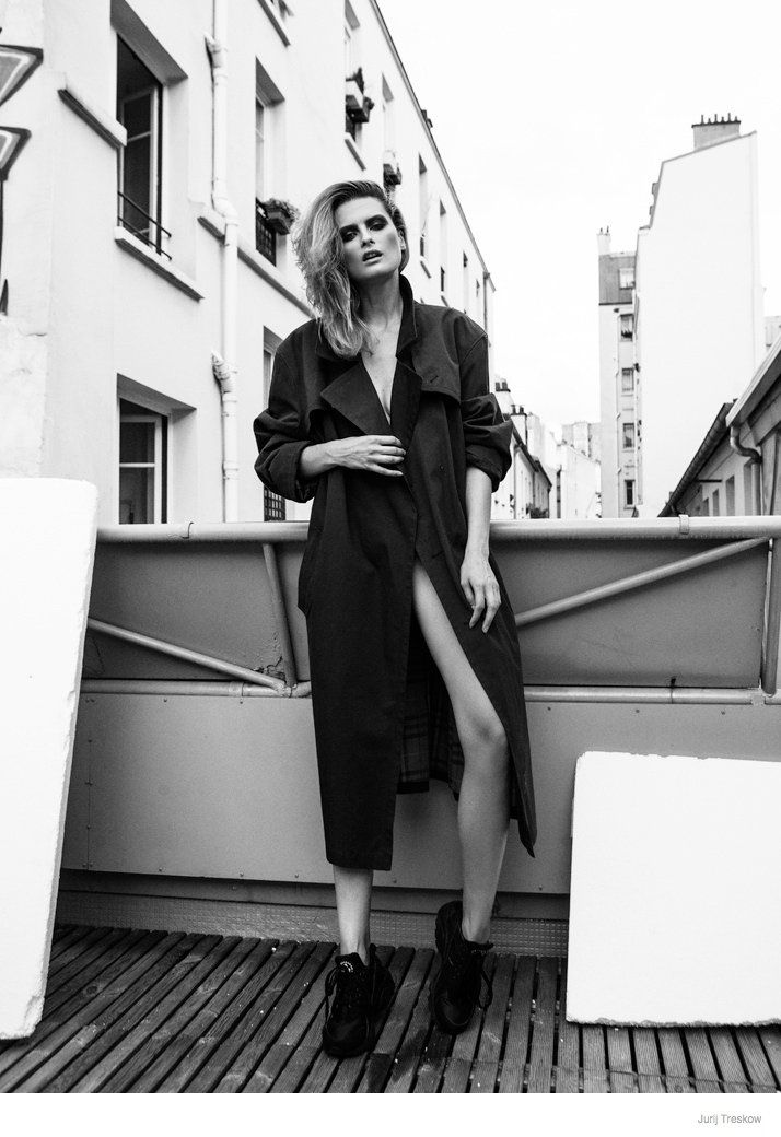 Elena in Black and White--Photographer Jurij Treskow shares these new images of the alluring Elena Melnik. Captured in black and white, the blonde beauty w