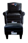New England Patriots Game Time Chair andOttomanThe