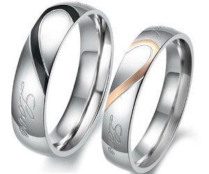 Heart Wedding Rings