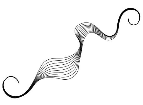 how to make a curved line on photoshop