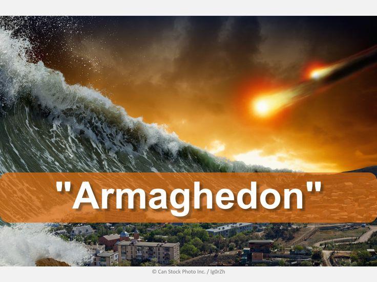 """""""Armaghedon"""" è la fine del mondo? Scopri cosa dice la Bibbia:  http://www.jw.org/it/cosa-dice-la-Bibbia/domande/Che-cos%C3%A8-la-battaglia-di-Armaghedon/ (Is """"Armageddon"""" the end of the world?  Find out what the Bible says.)"""