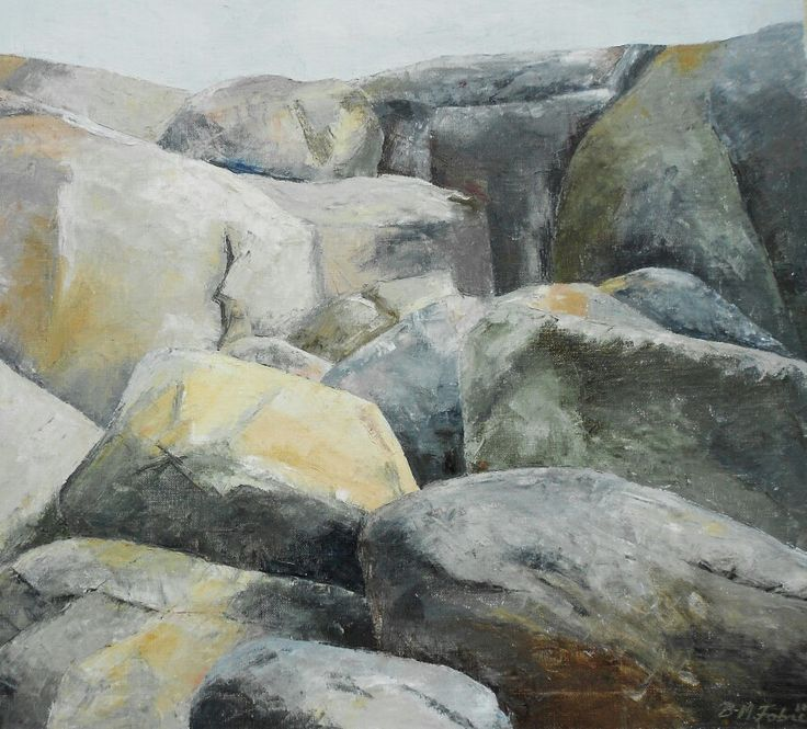 Rocks from the westcoast of Sweden. 80x61 cm. Contact:brittmarie.fabic@gmail.com