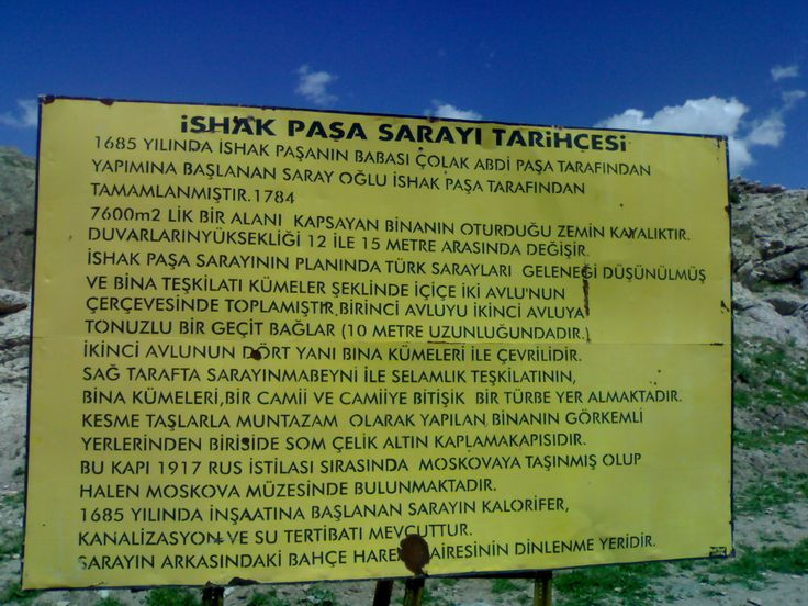 İshak Paşa Sarayı şu şehirde: Ağrı, Ağrı