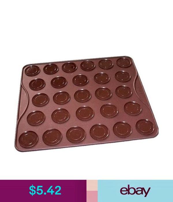 Allforhome 27 Round Macaron Macaroons Baking Mat Silicone Pastry Cookies Sheet