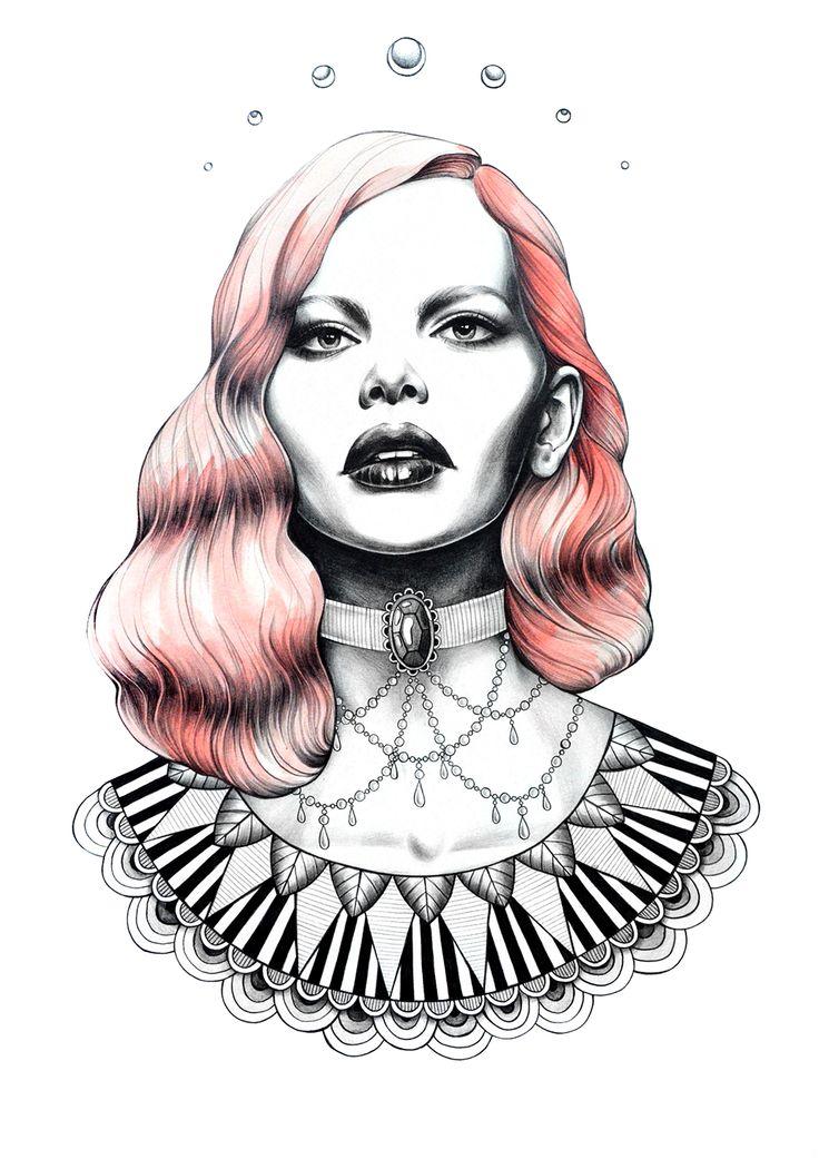 """Marion"" Illustration by Sarah McCloskey ( @ sarsar ) Prints available at www.hellosarsar.com"